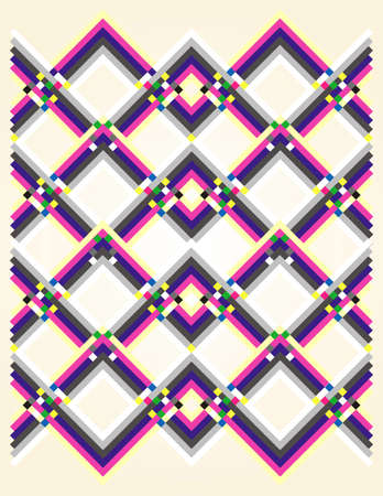psychedelic background: geometric pattern multicolored Illustration