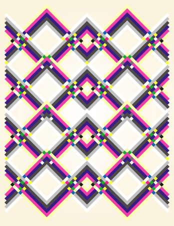 straight line: geometric pattern multicolored Illustration