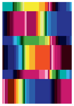 geometric stripe pattern multi colored Illustration
