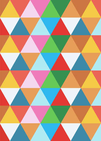 psychedelic: triangles colorful background.  Illustration