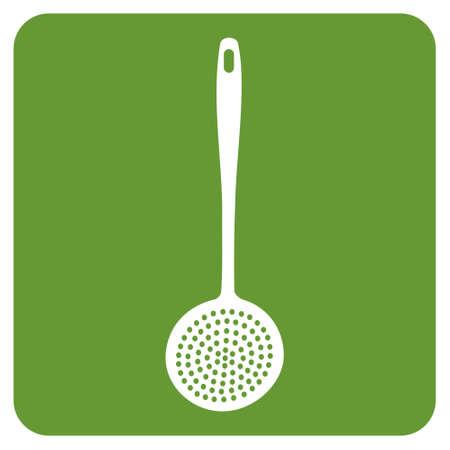 skimmer: kitchen skimmer icon.