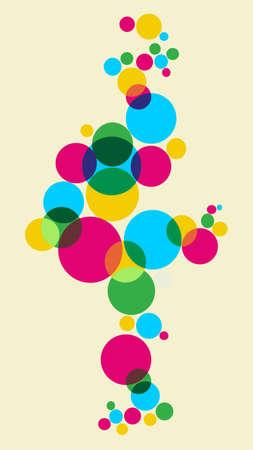soap bubbles: Frische Bubbles Background.  Illustration