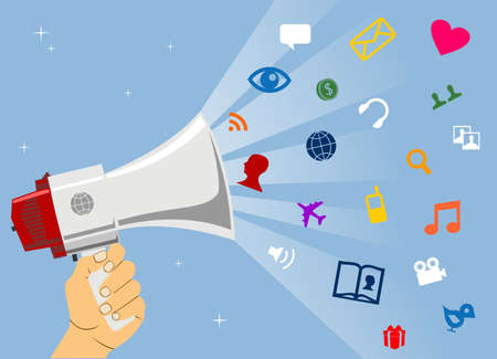 Business impulsion trough social media network Stock Vector - 8719395