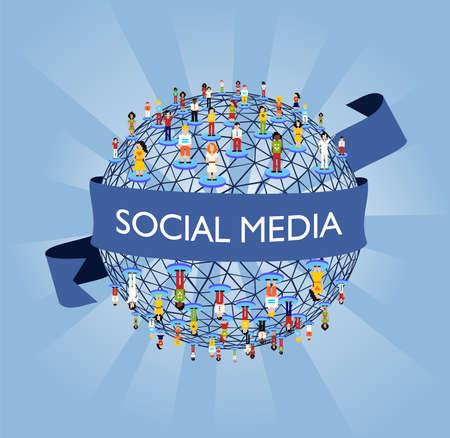 sociologia: Concepto de conexi�n de red de medios de comunicaci�n social