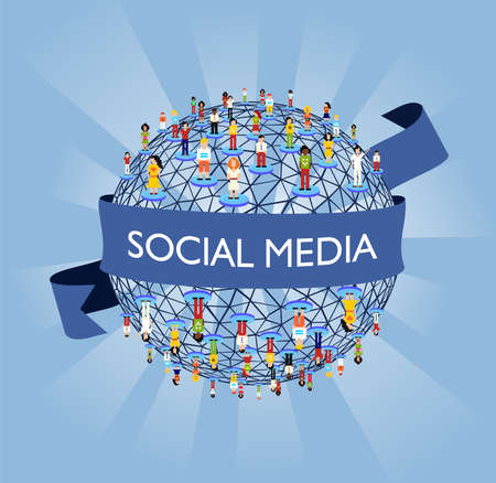 Social media network connection concept Stock Vector - 9262885