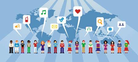 sociologia: Personas conectadas a trav�s de los medios de comunicaci�n social