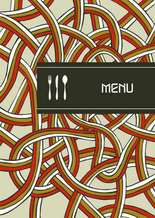 Fork, knife and spoon illustration background for food industry, menu, chocolate box, cover, label for wine. Vector