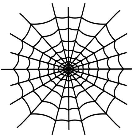 spiderweb: Black spiderweb isolated on white background