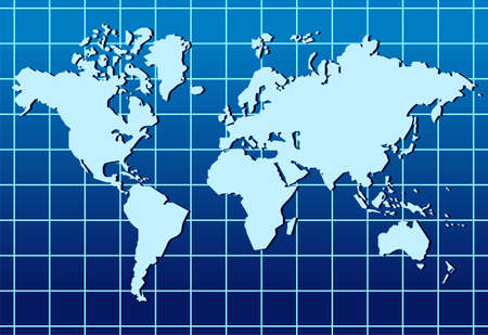 blue world map: Abstract background with a map of the world.