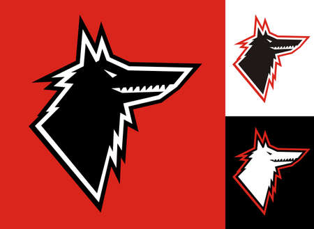 Wolf head symbol illustration Vector