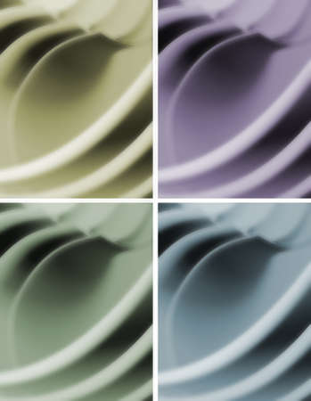 Pastel colors 3d waves abstract background. photo