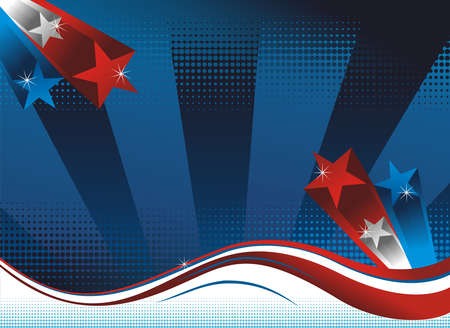 Background with USA flag theme.   Vector