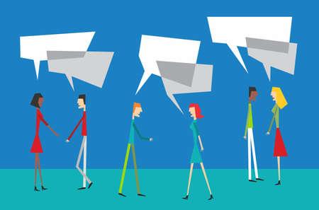 community people: Interazione sociale con il concetto di comunit� di persone discorso palloncino