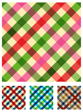 red gingham: Food, restaurant, tablecloth menu design. Multicolored texture seamless pattern.