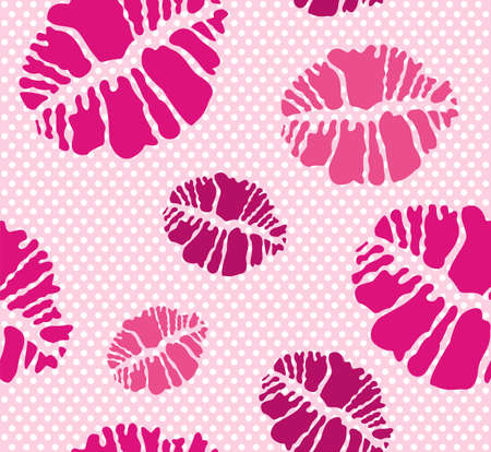 Seamless kiss pattern in different tones Stock Vector - 10554957