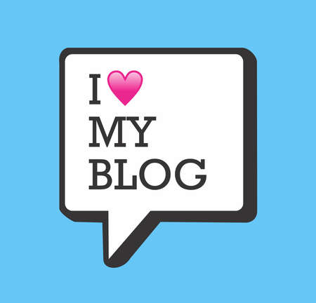 blog icon: I love my blog bubble and heart illustration.