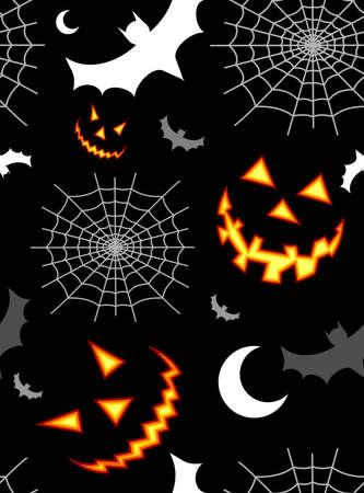 halloween pattern: Halloween horror symbols seamless pattern background. Vector available
