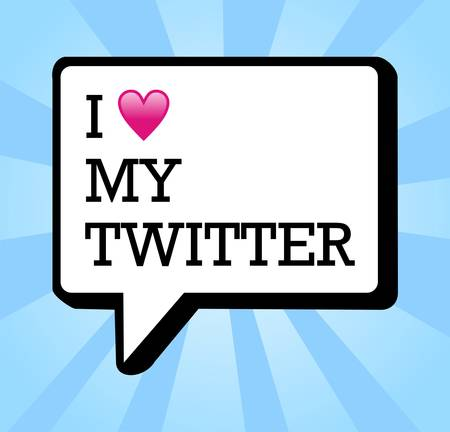 I love my twitter bubble and heart illustration. Vector