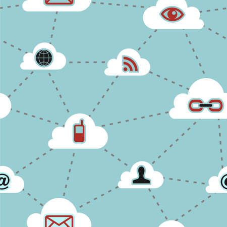 Social media cloud computing network diagram pattern background. Vector file available. photo