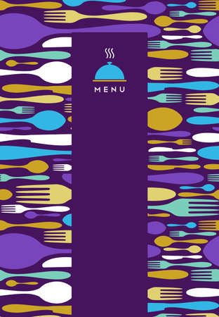 Voedsel, restaurant, menu ontwerp met bestek silhouet achtergrond. Geschikt als uitnodiging diner kaart. Vector Illustratie