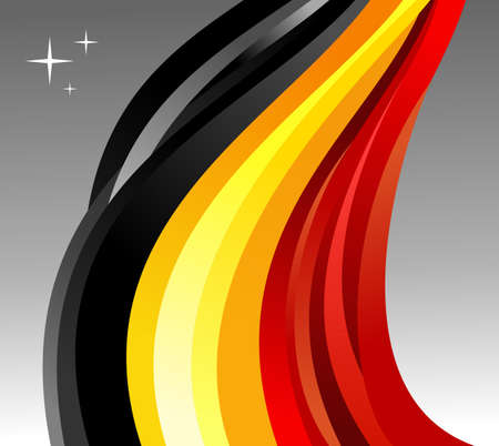 belgium flag: Belgium flag illustration fluttering on gray background.  Illustration