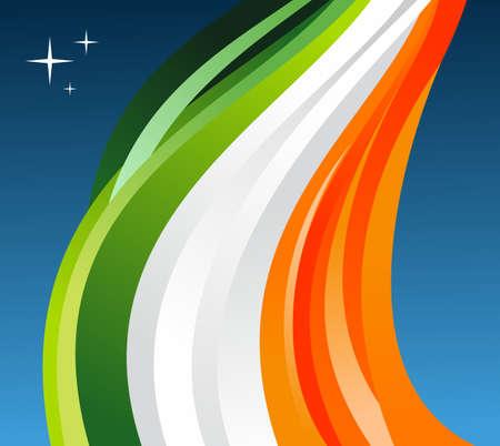 ireland flag: Ireland flag illustration fluttering on a gray background.  Illustration
