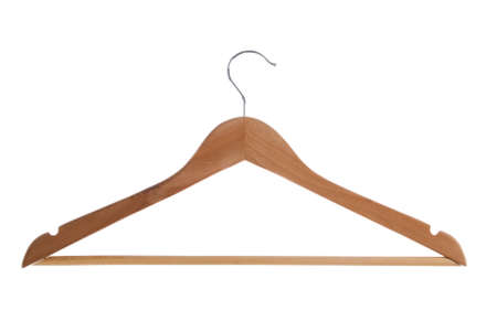 Single clothe hanger isolated on white background.  photo