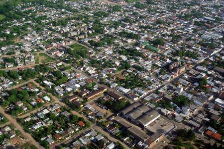 aerea: Bird view of urban aerea of town in Uruguay.