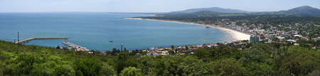 Panoramic view of Piriapolis bay in the River Plate. Uruguay, South America. photo
