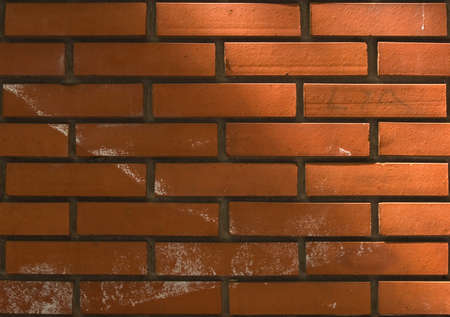 clay brick: Polished brick texture pattern background
