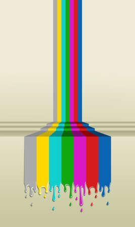 vintage television: Television bars signal. TV concept illustration. Illustration
