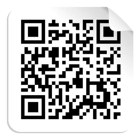 qr: Technology QR code label concept  Vector file available