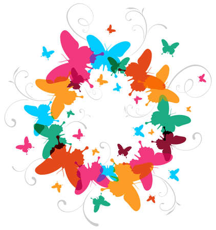 Transparency butterfly spring time concept background. Vector file available. Stock Vector - 12855577