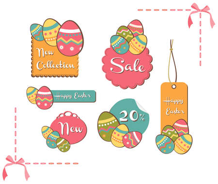 Easter painting egg sales set background. Vector file layered for easy manipulation and custom coloring. Stock Vector - 12855633