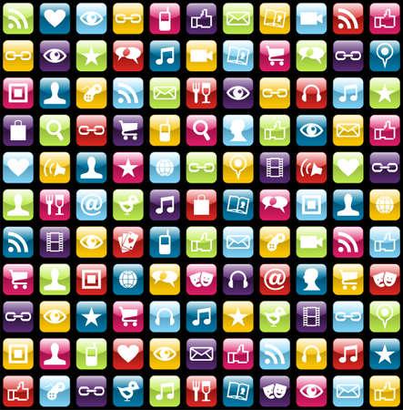 iconos de m�sica: Icono de la aplicaci�n Smartphone poner el fondo sin patr�n. Archivo vectorial en capas para la manipulaci�n f�cil y personalizaci�n.
