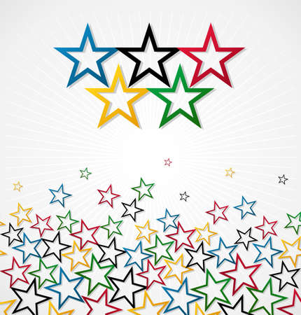 London Olympics games stars background. Vector file layered for easy manipulation and customisation. Vector