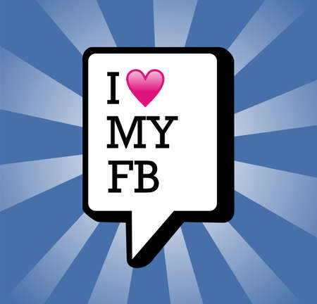 I love facebook text in communication bubble background illustration  Stock Photo - 14144899
