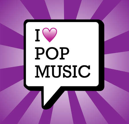 I love pop music text in communication bubble background illustration file layered for easy manipulation and custom coloring Stock Vector - 13533857