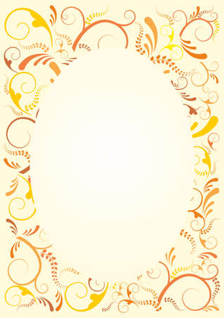 Floral frame background. Vector file available. Stock Vector - 13534056