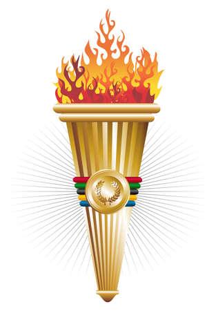 fire ring: Deportes antorcha de la ilustraci�n triunfo. archivo de capas para la manipulaci�n f�cil y personalizaci�n.