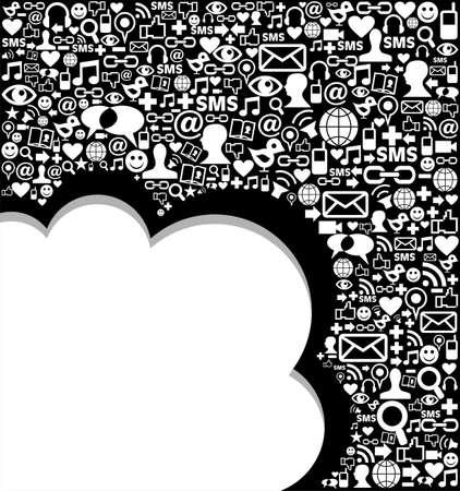 medios de comunicacion: Sociales iconos de los medios de comunicaci�n establecido en el dise�o de forma de onda. Vectores