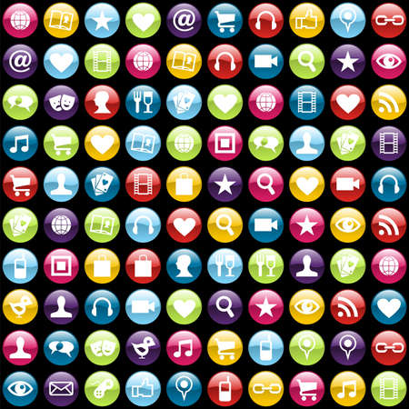 apps icon: Smartphone app icon set pattern background. file layered for easy manipulation and customisation. Illustration