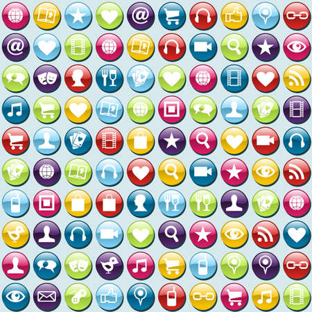 Smartphone app icon set seamless background. file layered for easy manipulation and customisation. Stock Vector - 13903188
