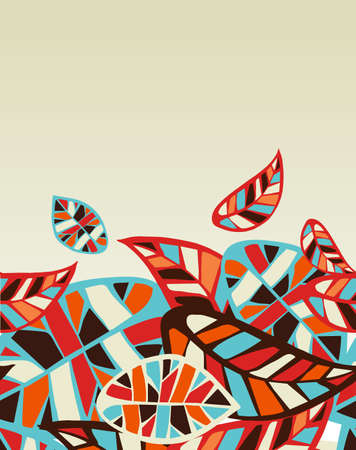 Abstract colorful leaves background  Vector file layered for easy manipulation and coloring  Vector