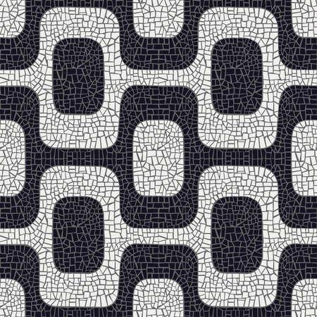 Abstract witte en zwarte golf bestrating patroon achtergrond