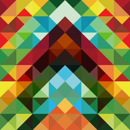 삼각형: 추상 광학 효과 다채로운 삼각형 패턴 배경 일러스트
