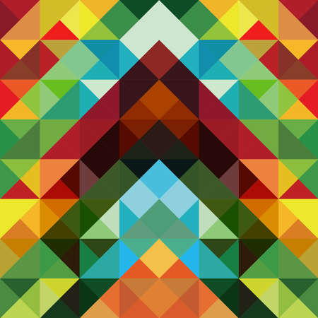 Abstract optic effect colorful triangle pattern background   Vector