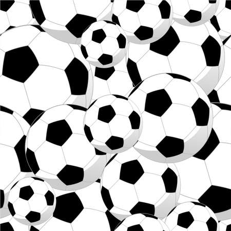 soccer ball: Soccer balls sport seamless pattern background  Vector file layered for easy manipulation and custom coloring  Illustration