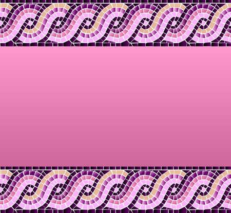 endlos: Marine-Stil Welle buntes Mosaik nahtlose Muster Hintergrund Vektor-Datei zum einfachen Manipulation und kundenspezifische Farbgebung geschichtet