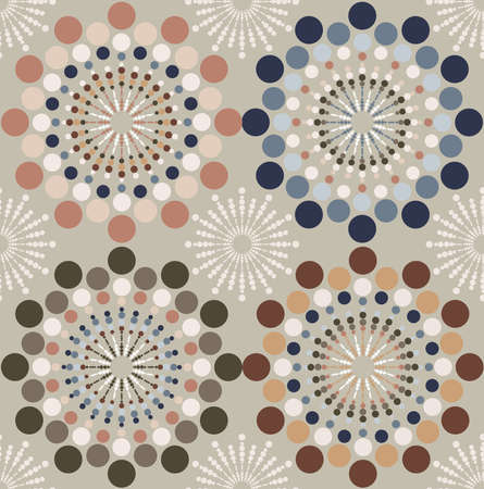 Abstract circle seamless pattern background.  Vector